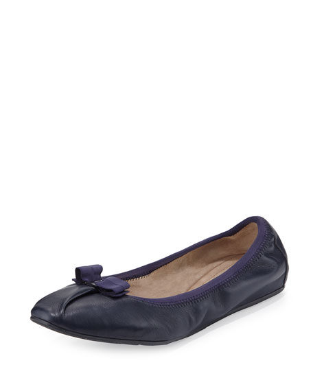 Salvatore Ferragamo My Joy Matte Leather Ballerina Flat,
