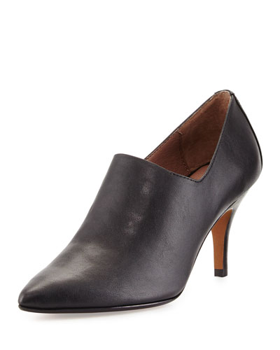 Tanna Stretch Leather Pump, Black