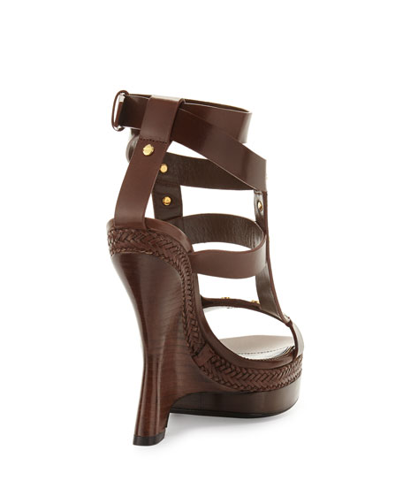Tom Ford Sandales À Talons Courbe - Marron HcY10cSn8