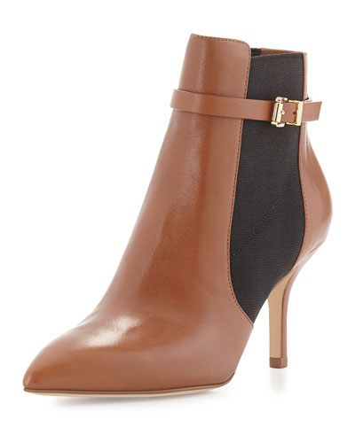 Woods Leather Ankle Bootie, Luggage