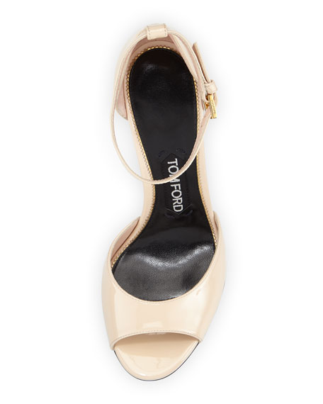 Patent Leather d'Orsay Sandal, Nude