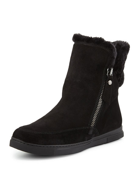 Stuart Weitzman Furgie Faux-Fur Ankle Boot, Black (Nero)