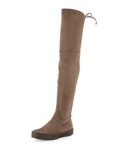 Playtime Ultra-Stretch Suede Over-The-Knee Boot, Swamp