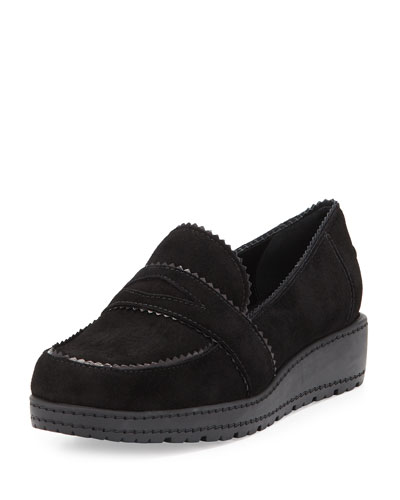 Schooldays Suede Penny Loafer, Black