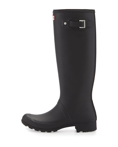 Tour Traveler Rubber Rain Boot, Black