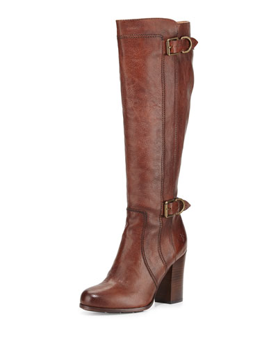 Parker D Ring Tall Leather Boot, Copper