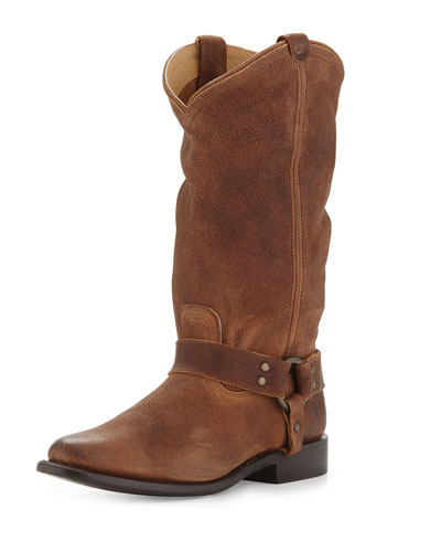 Wyatt Harness Leather Boot, Tan