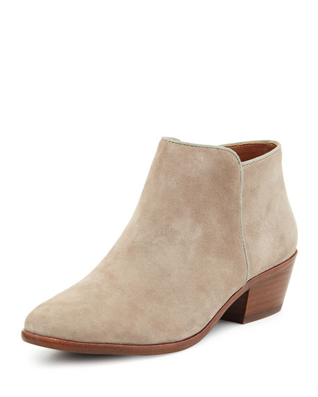 Petty Suede Ankle Bootie, Putty