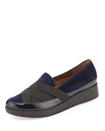 Vixie Stretch Slip-On Loafer, Navy