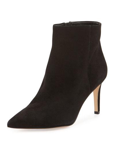 Karen Suede Ankle Bootie, Black