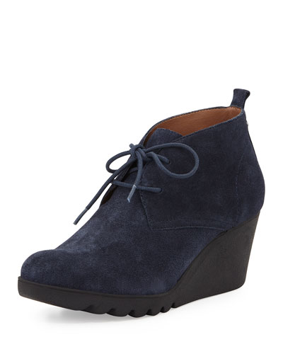 Makko Lace-Up Bootie, Navy