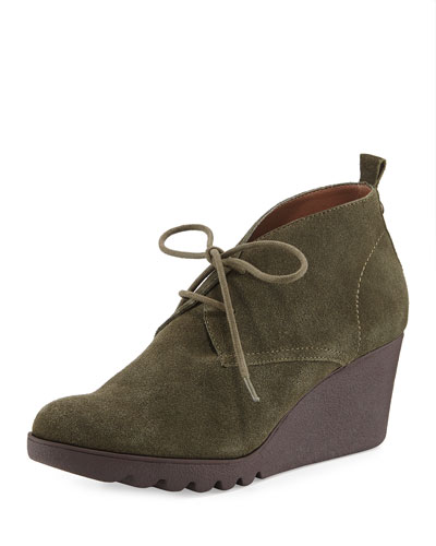 Makko Lace-Up Bootie, Olive