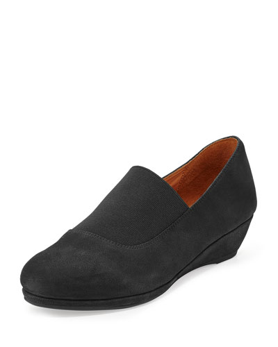 Nova Nubuck Leather Slip-On, Black