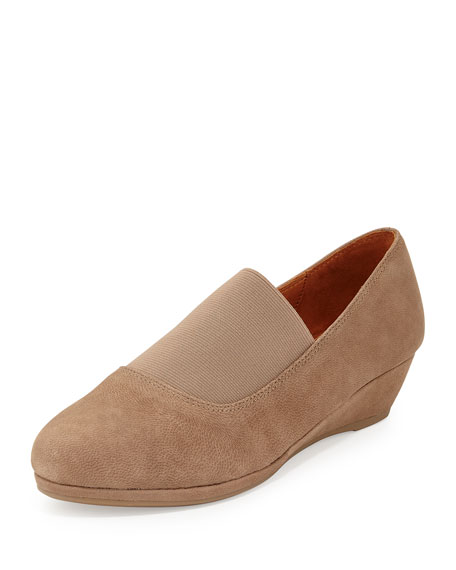 Gentle Souls Nova Nubuck Leather Slip-On, Putty
