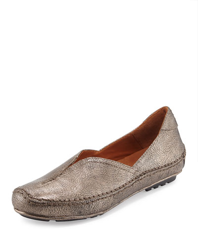 Soleful Casual Leather Slip-On, Antique Pewter