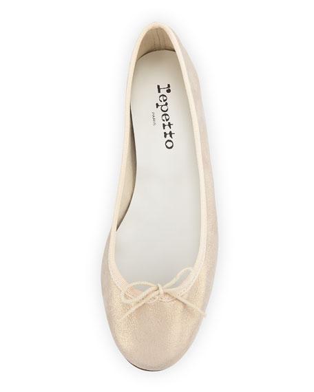 Cendrillon Metallic Suede Ballerina Flat, Esprit