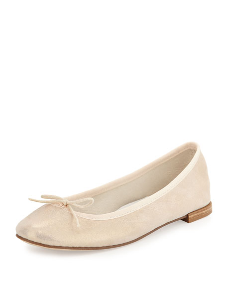 Repetto Cendrillon Metallic Suede Ballet Flat, Esprit