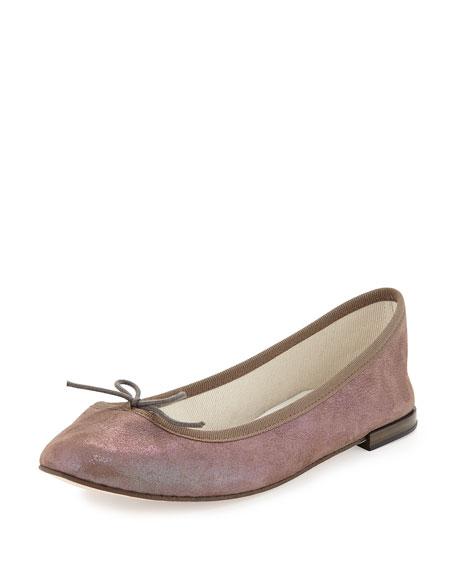 Repetto Cendrillon Metallic Suede Ballerina Flat, Polux