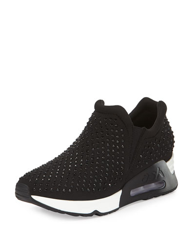 Lunar Studded Slip-On Sneaker, Black