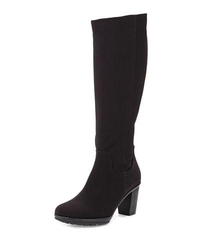 Robena High-Heel Knee Boot, Black