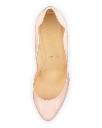 replica christian louboutin mens - christian louboutin patent leather wavy heel pumps, louboutins shoes