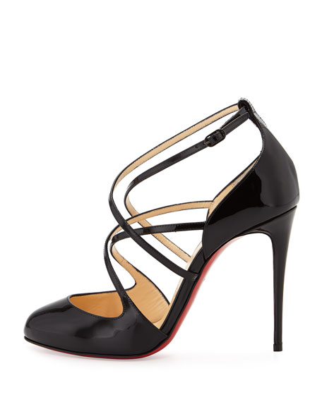 a94b785a655 Soustelissimo Strappy Red Sole Pump Black