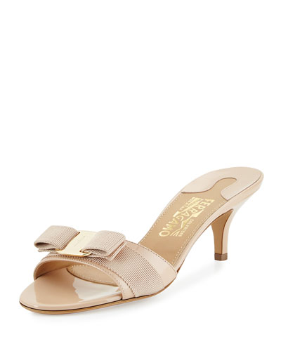 Glory Patent Bow Slide, New Bisque