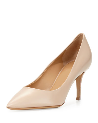 Susi Leather Point-Toe Pump, New Bisque