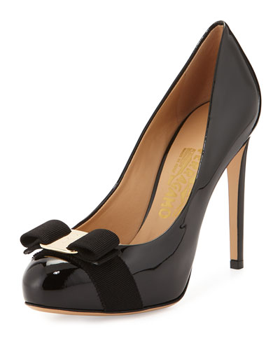 Rilly Patent Bow Pump, Black (Nero)