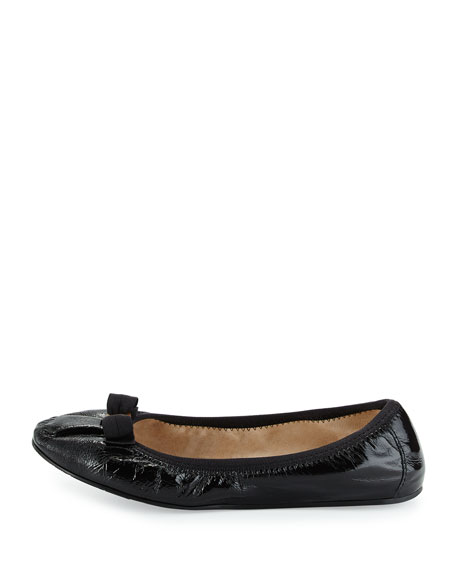 Patent Bow Flat, Black (Nero)