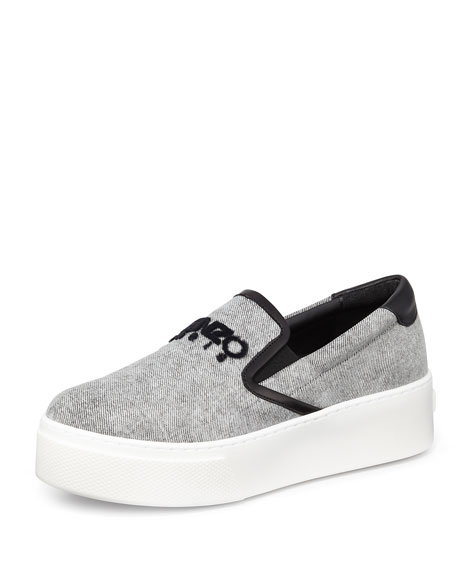 Kenzo Denim Flatform Sneakers for sale very cheap 84sr5NRx