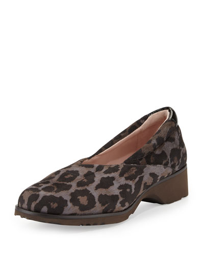 Tarah Active Walking Loafer, Gray Leopard