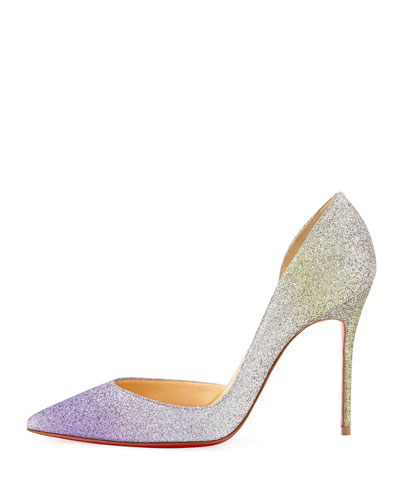 christian louboutin blue shoes men - CHRISTIAN LOUBOUTIN Iriza 100Mm Drage Glitter