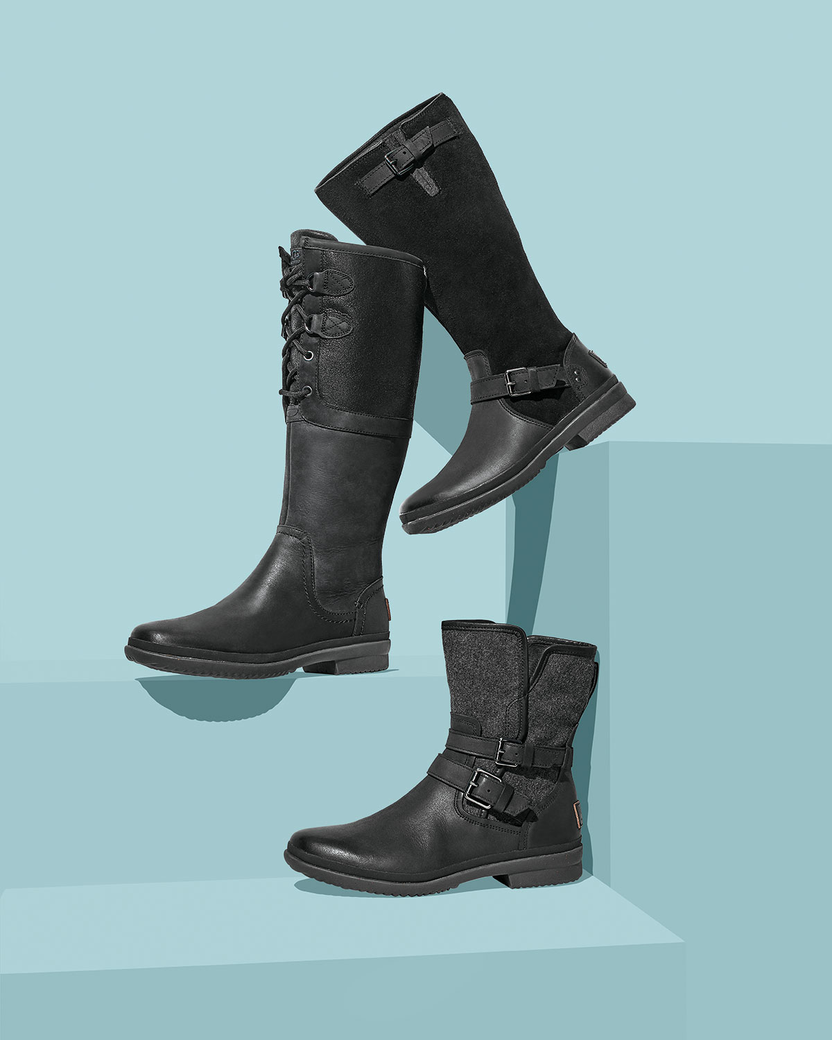 f30366fd1da Thomsen Weather-Resistant Suede & Leather Boot, Black