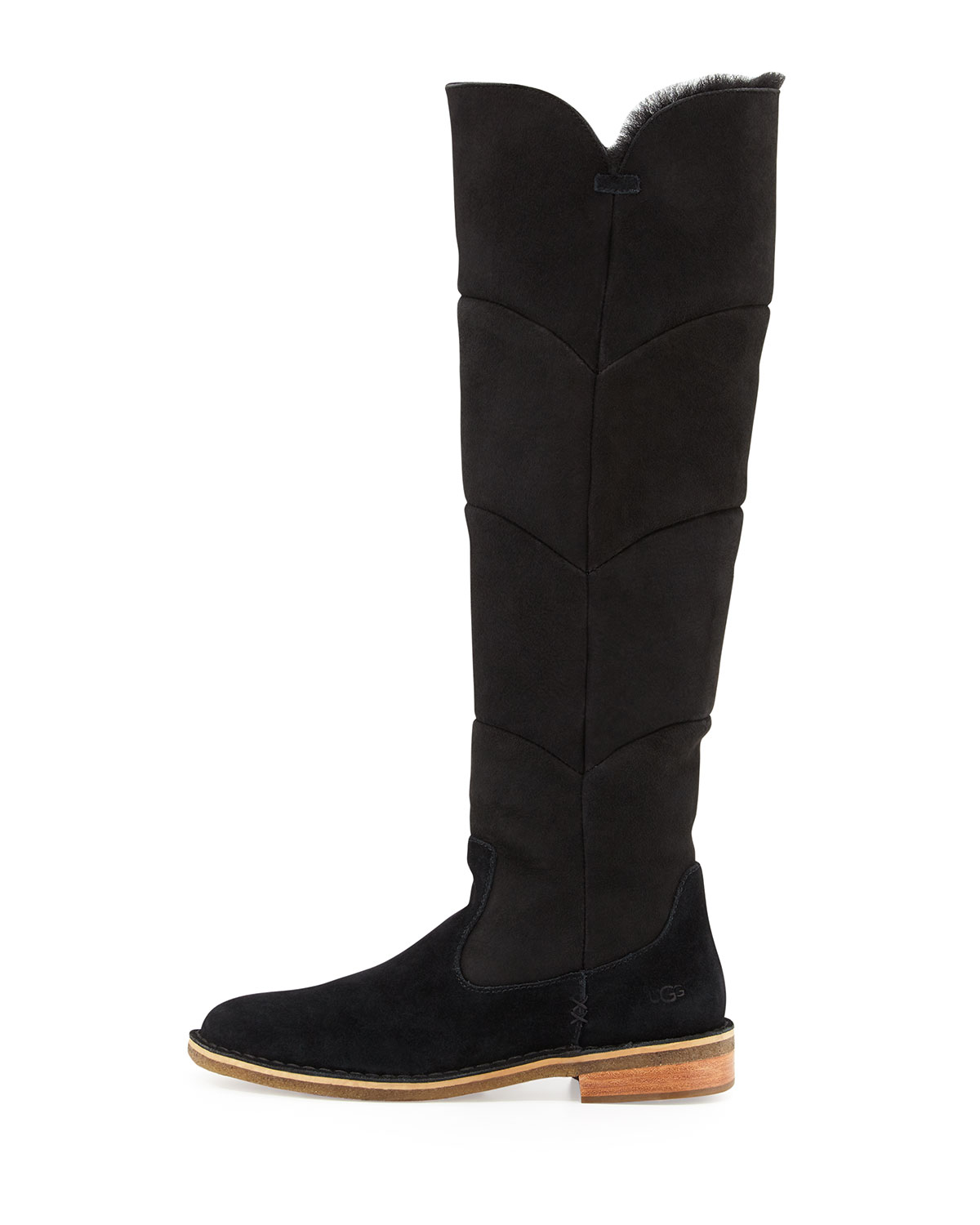 6e51c54cbff Samantha Quilted Tall Boot, Black