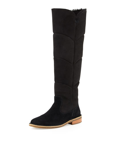 Samantha Quilted Tall Boot, Black