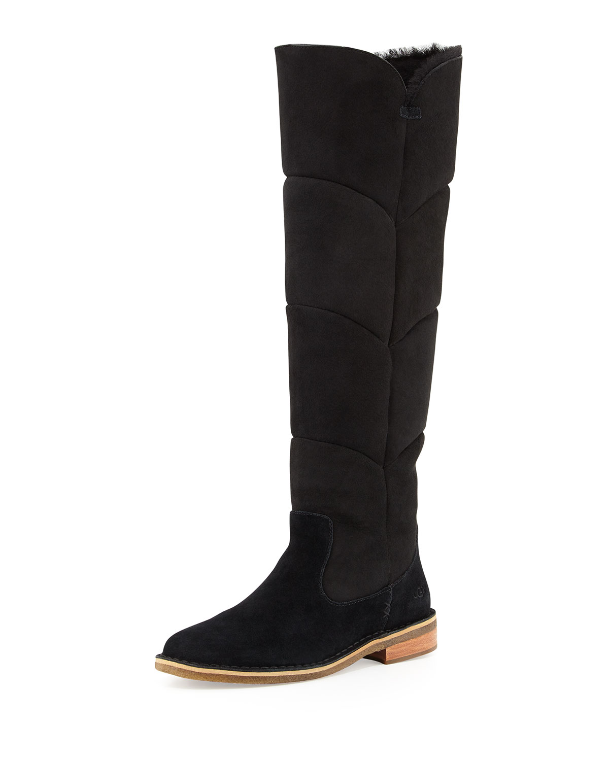 59b8e29b4af Samantha Quilted Tall Boot, Black