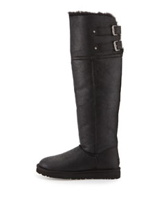 559d723a605 Devandra Shearling-Lined Tall Boot, Black