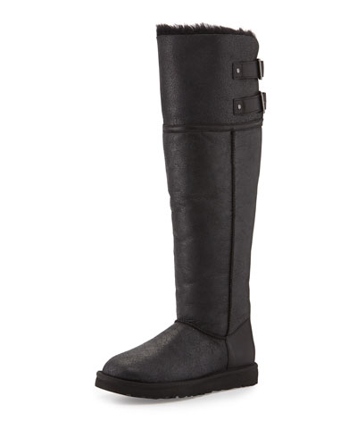 Devandra Shearling-Lined Tall Boot, Black