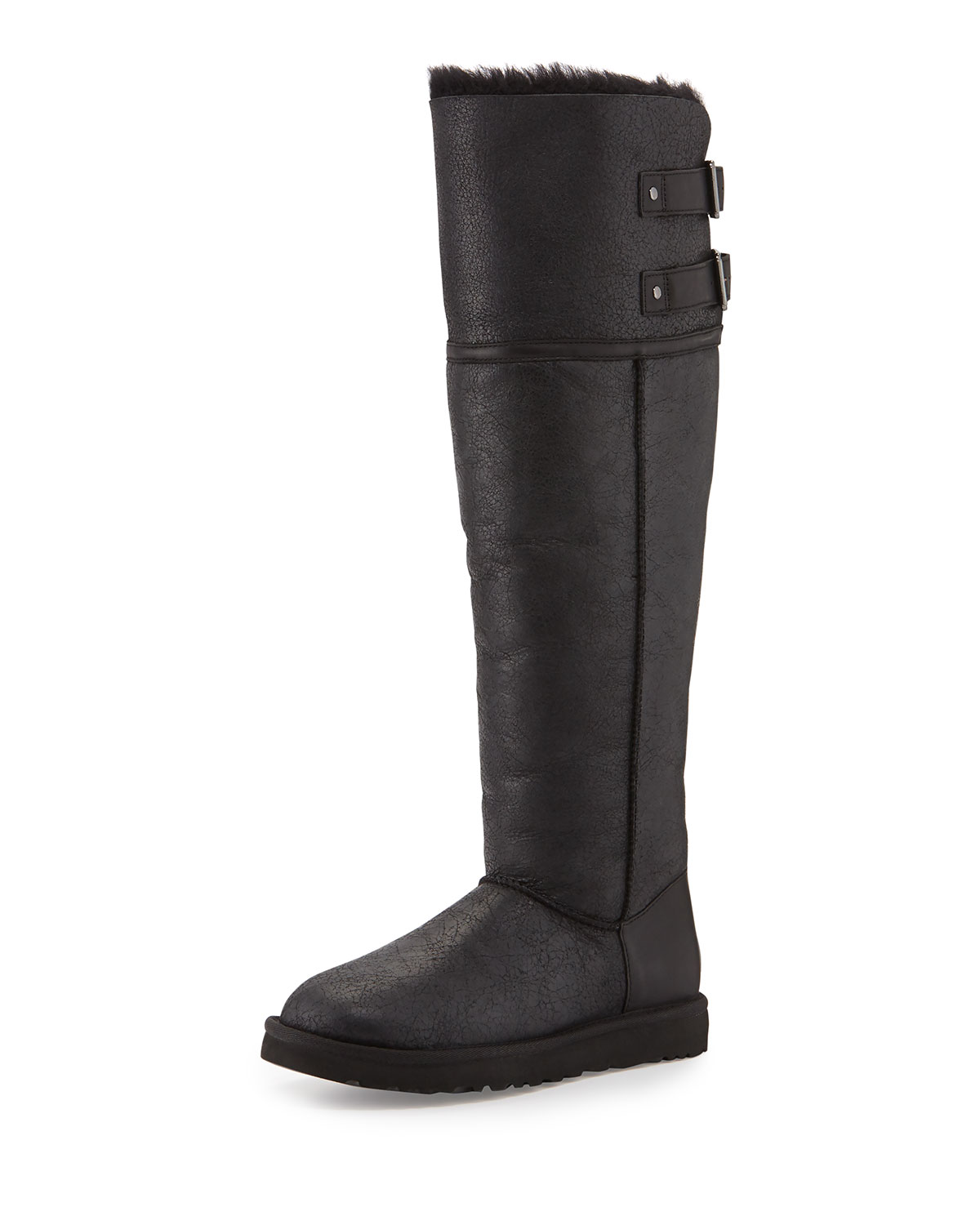 UGG Australia Shearling-Trimmed Knee-High Boots quality free shipping outlet BIX5j6NoI