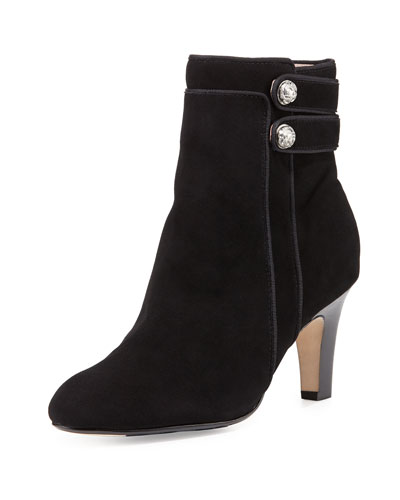 Taytum Double-Button Boot, Black