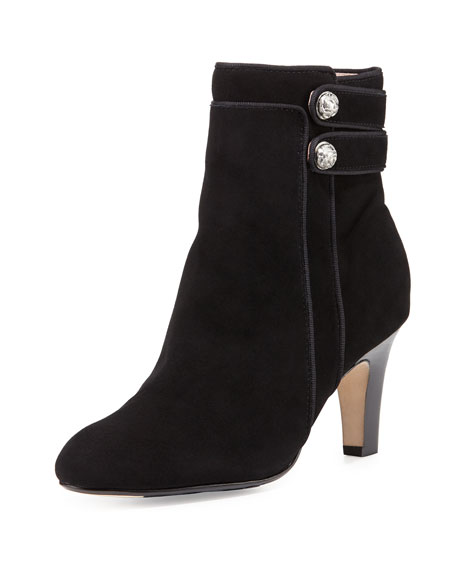 Taryn Rose Taytum Double-Button Boot, Black