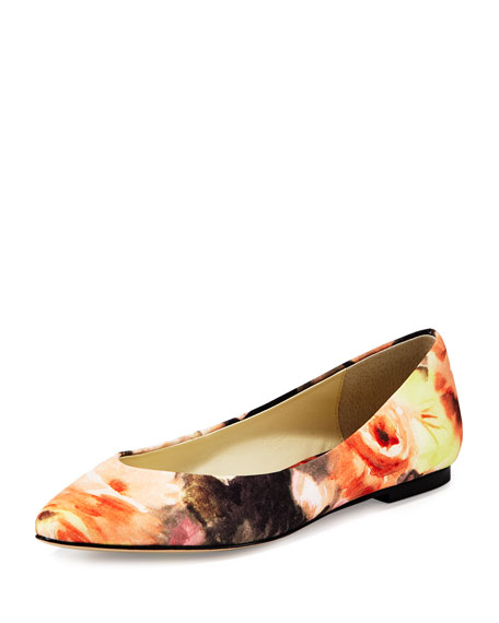 Bettye Muller Ponytail Fabric Ballerina Flat, Coventry Floral