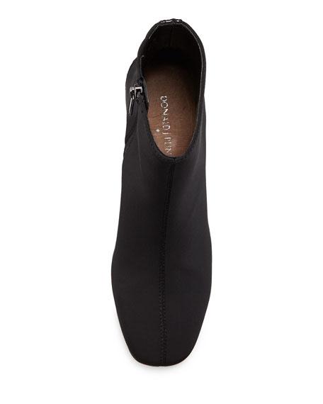 Jax Contrast-Heel Crepe Bootie, Black