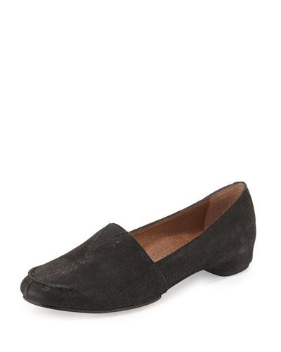 Bamba Metallic Slip-On Loafer, Black