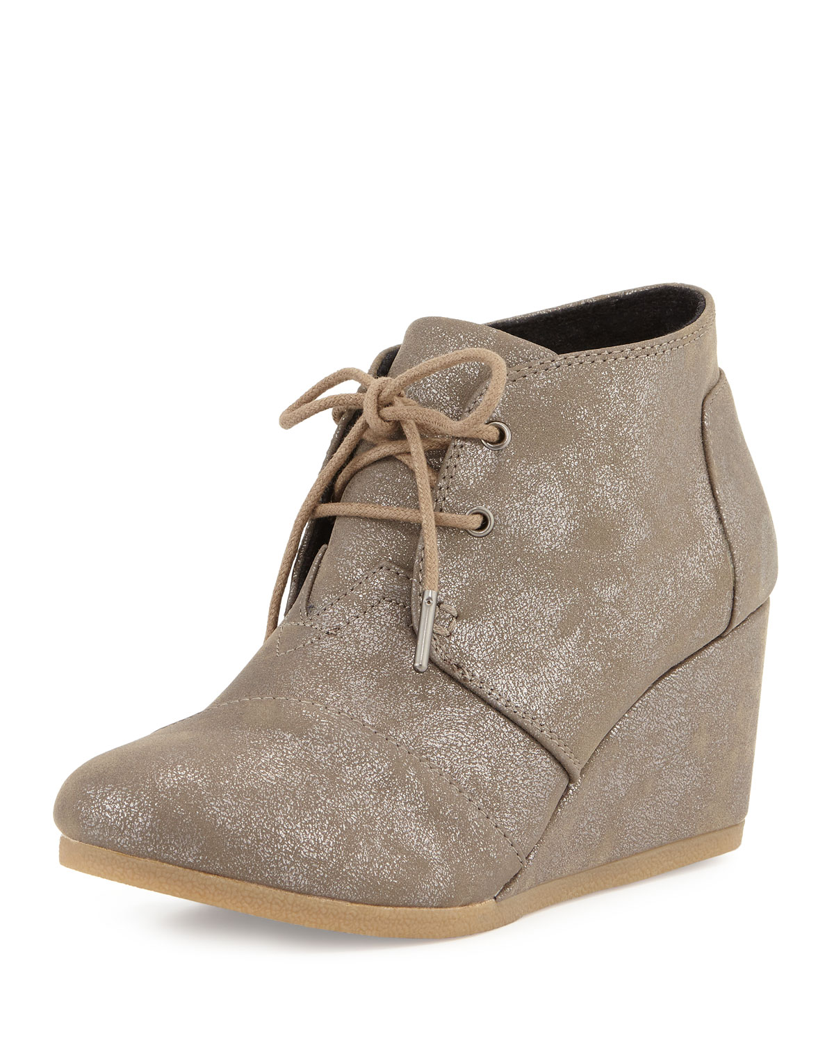4e022b838c9 TOMS Desert Lace-Up Wedge Bootie