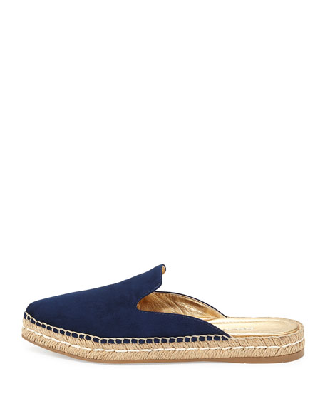 discount up to 60% huge discount outlet boutique Suede Espadrille Mule Flat, Ultramarine (Oltremare)