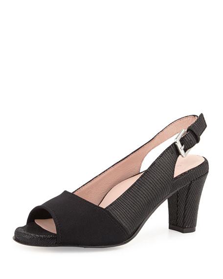 Taryn RoseFortula Peep-Toe Slingback Pump, Black