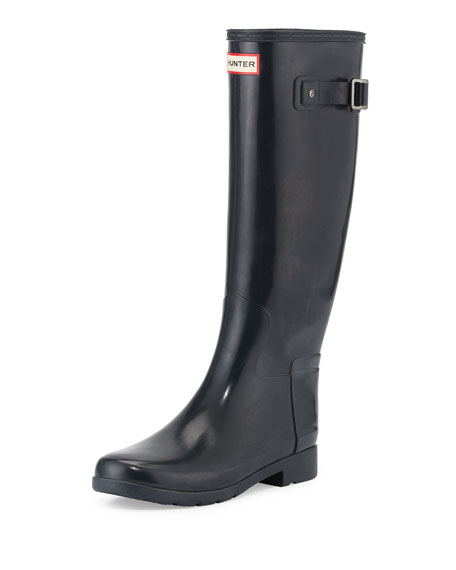 Hunter Boot Original Refined Gloss Rain Boot, Navy