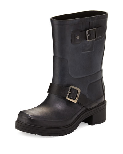 Original Rubber Biker Boot, Black